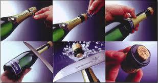Sabrage van Champagne
